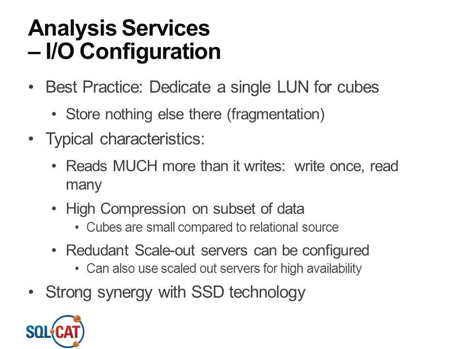 Analysis Services – I/O Configuration