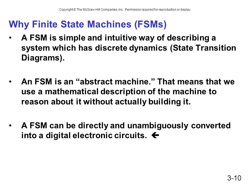 Why Finite State Machines (FSMs)
