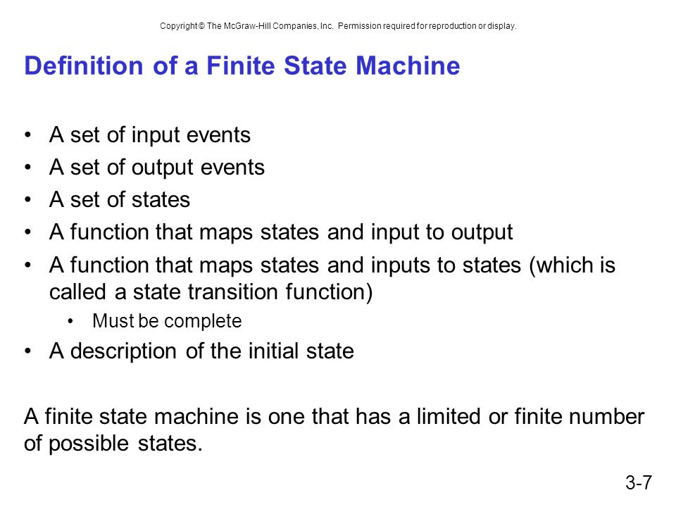 Definition of a Finite State Machine