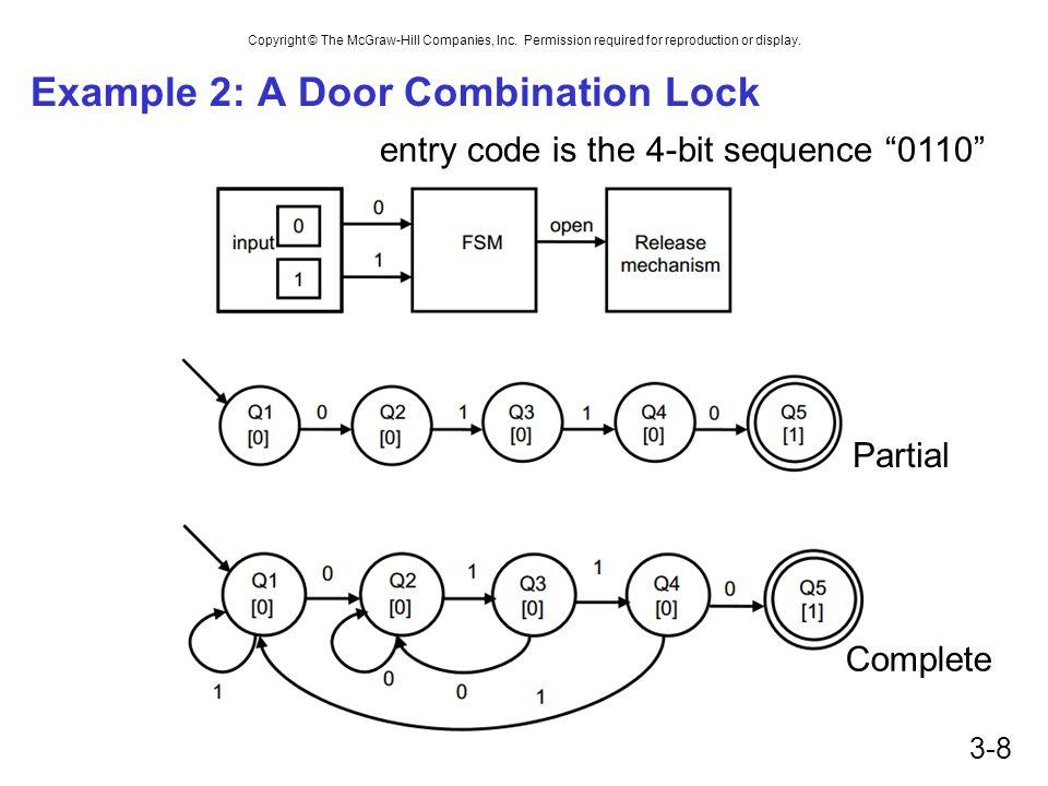 Example 2: A Door Combination Lock