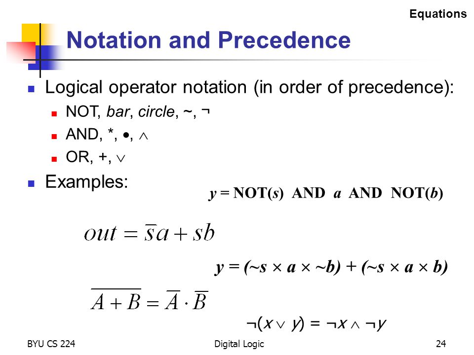 Notation and Precedence