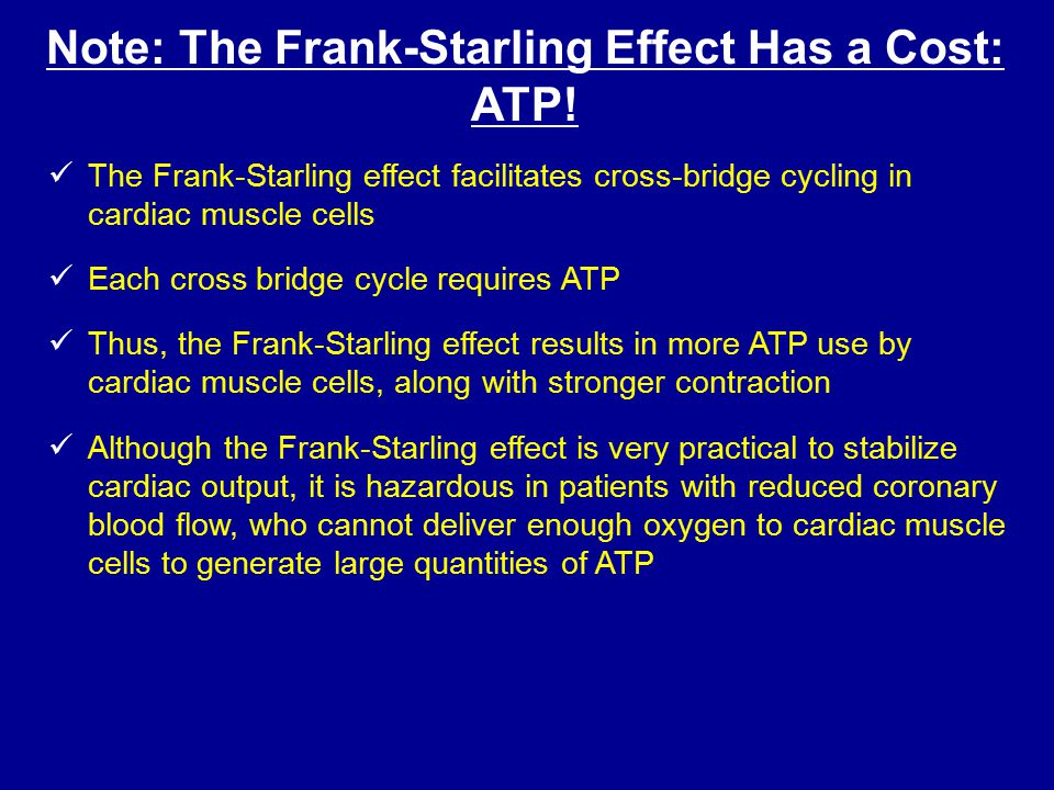 Note: The Frank-Starling Effect Has a Cost: ATP!