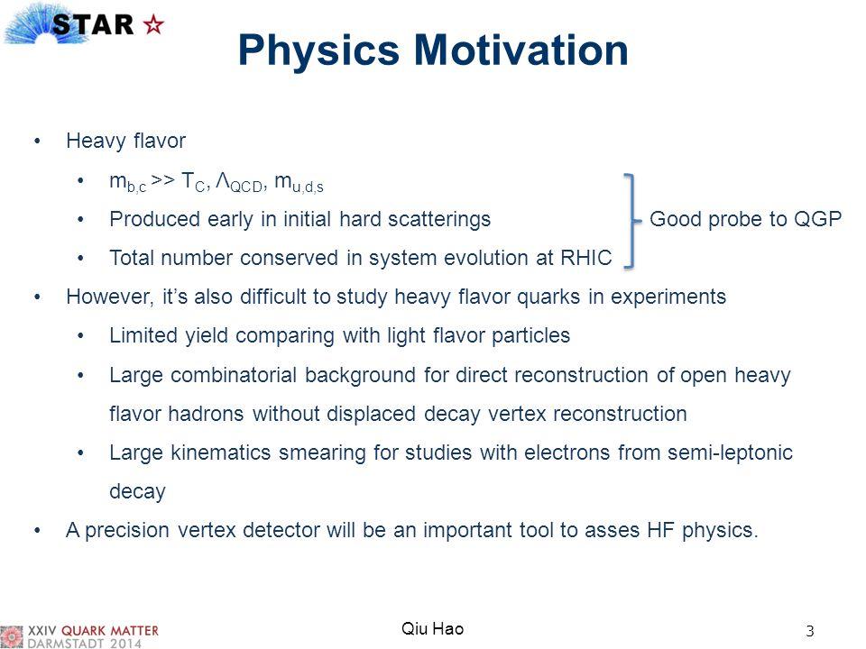 Physics Motivation Heavy flavor mb,c >> TC, ΛQCD, mu,d,s