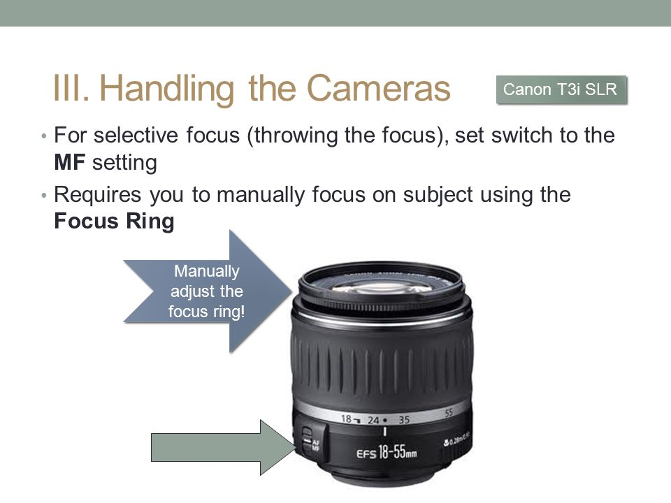 Manually adjust the focus ring!