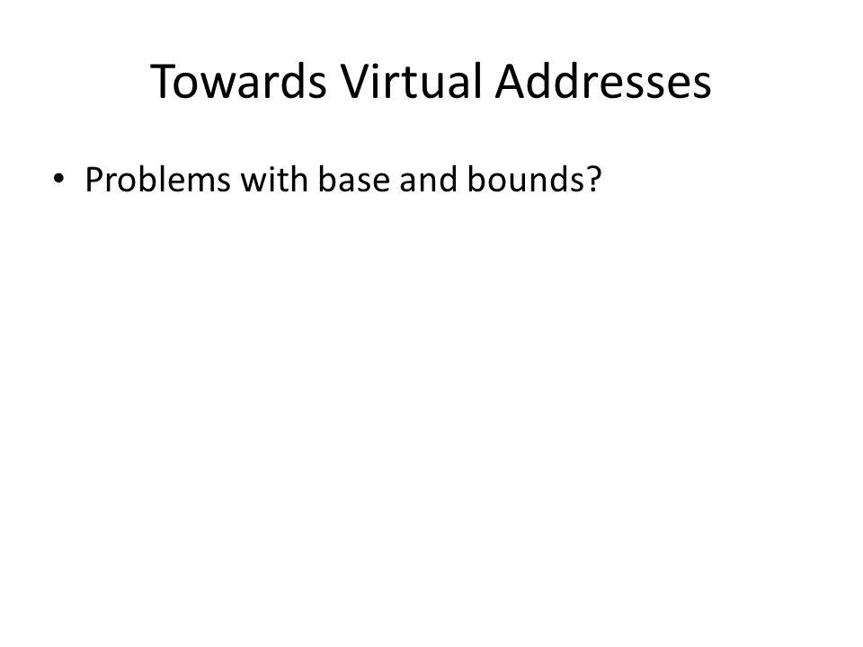 Towards Virtual Addresses
