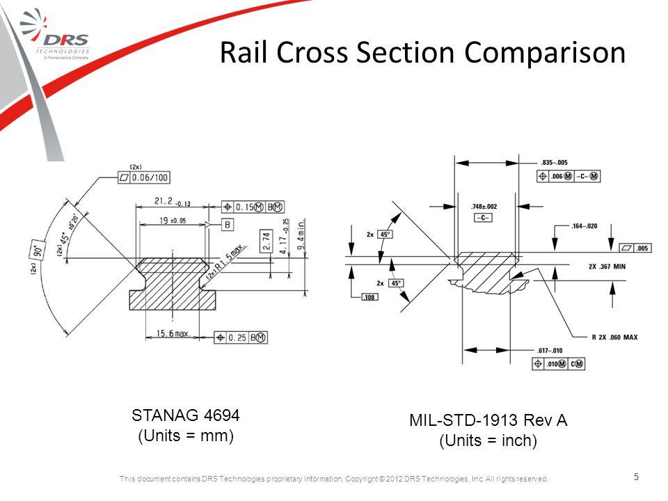 Rail Cross Section Comparison
