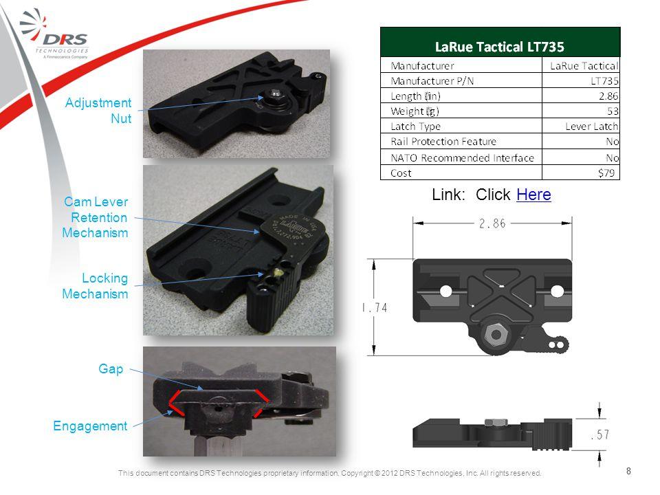Link: Click Here Adjustment Nut Cam Lever Retention Mechanism