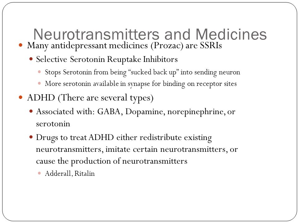 Neurotransmitters and Medicines