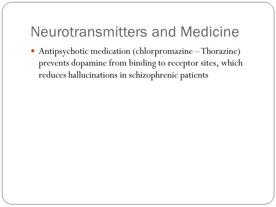 Neurotransmitters and Medicine
