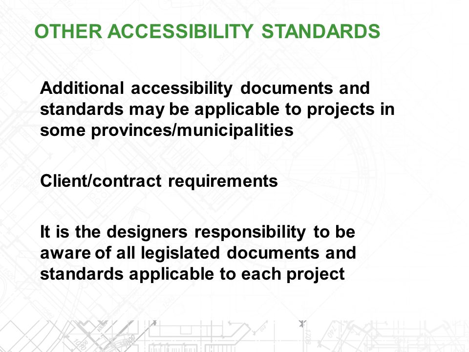 OTHER ACCESSIBILITY STANDARDS
