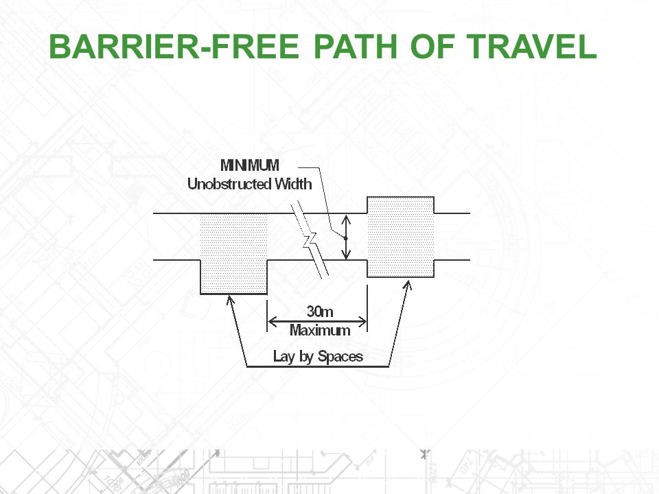 BARRIER-FREE PATH OF TRAVEL