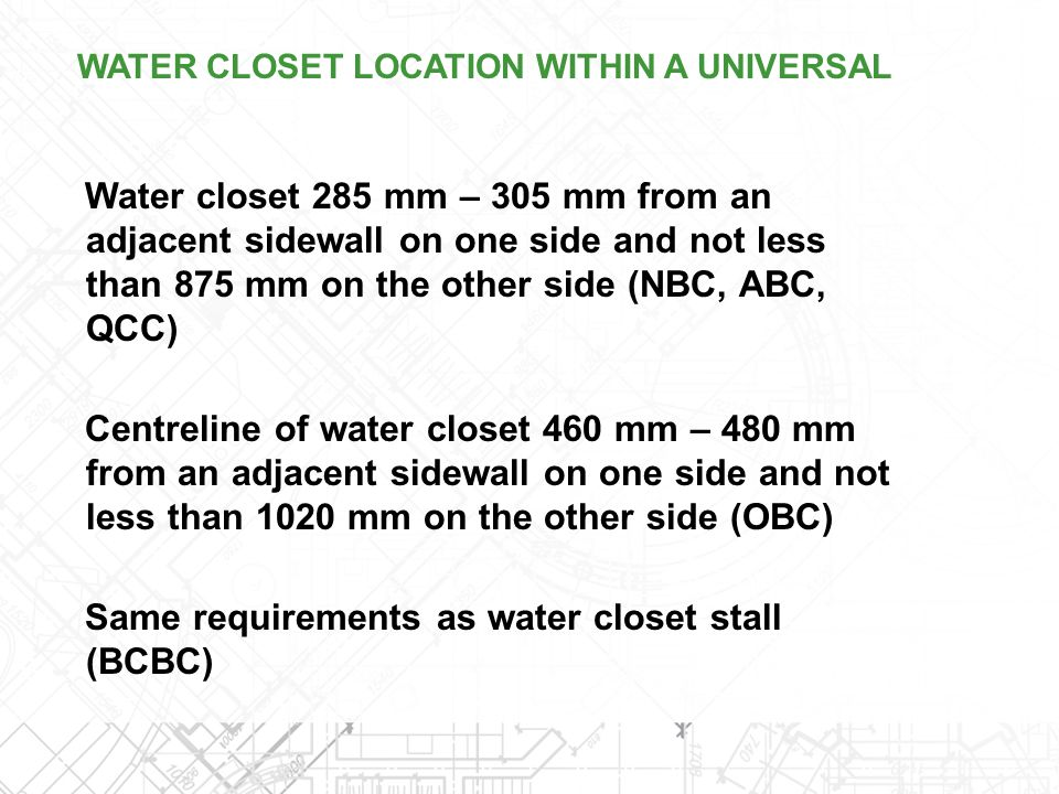 Same requirements as water closet stall (BCBC)