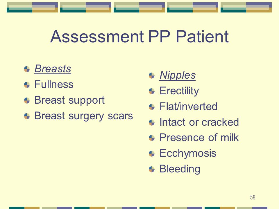 Assessment PP Patient Breasts Fullness Nipples Erectility