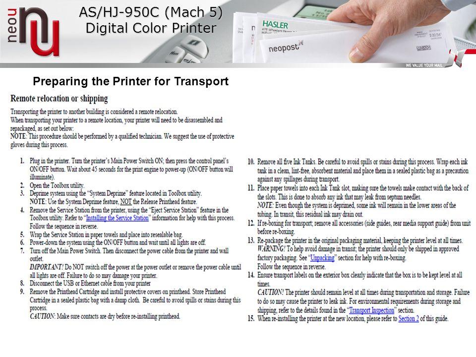 AS/HJ-950C (Mach 5) Digital Color Printer
