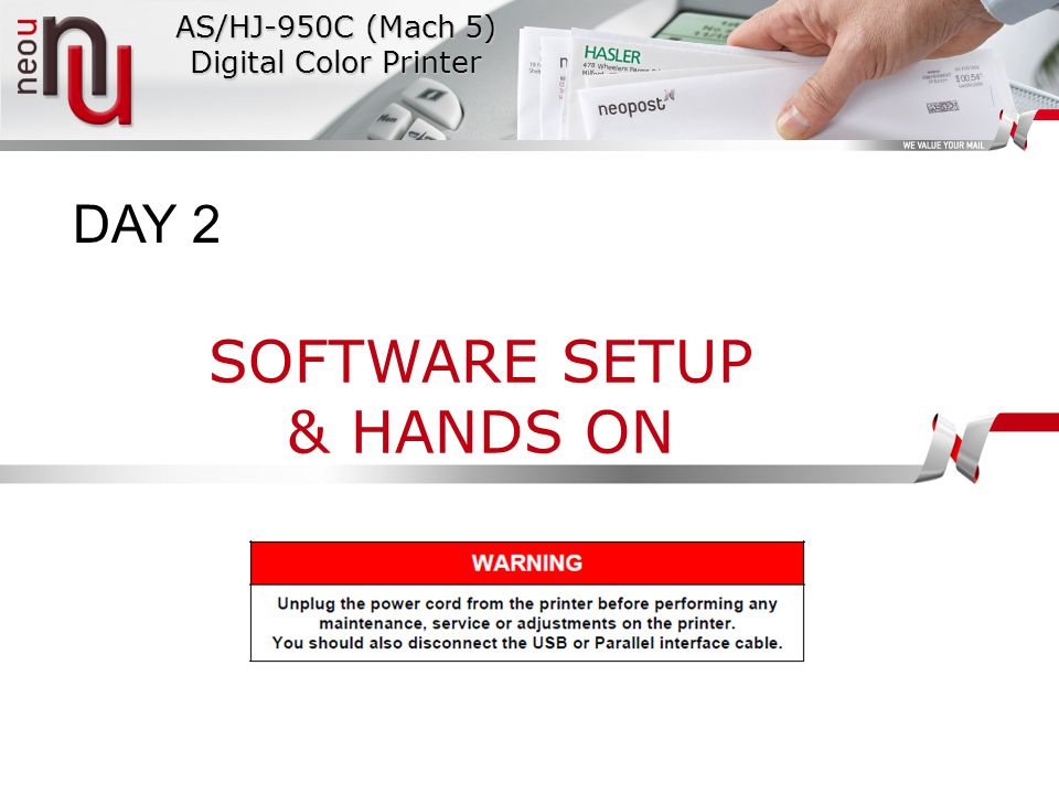 AS/HJ-950C (Mach 5) Digital Color Printer SOFTWARE SETUP & HANDS ON