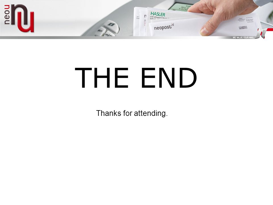 THE END Thanks for attending.