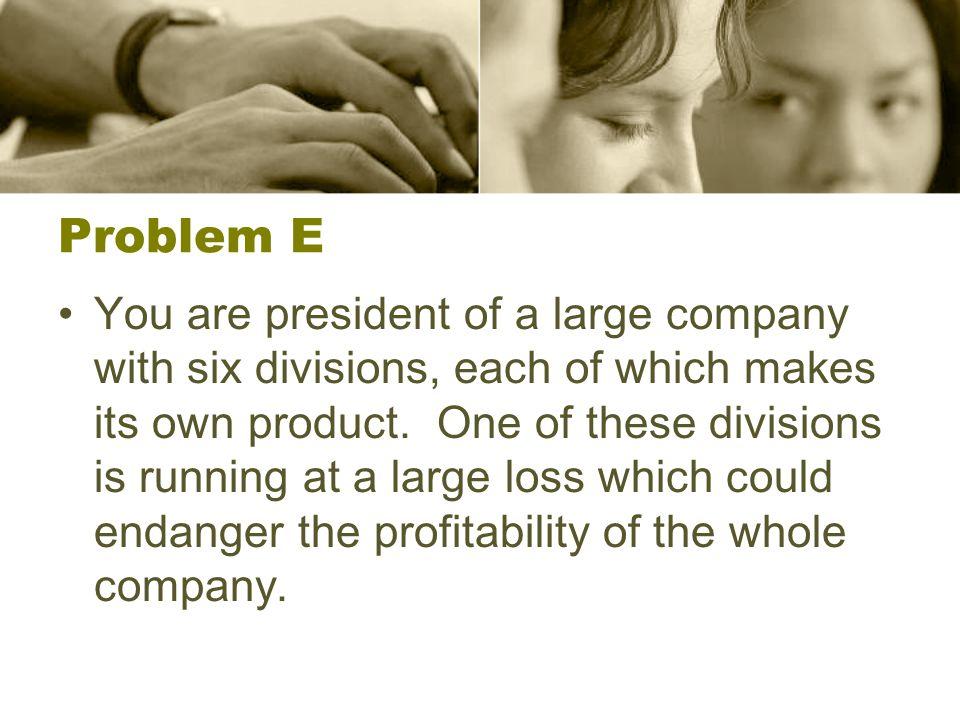 Problem E
