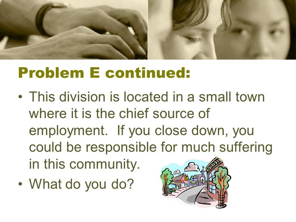 Problem E continued: