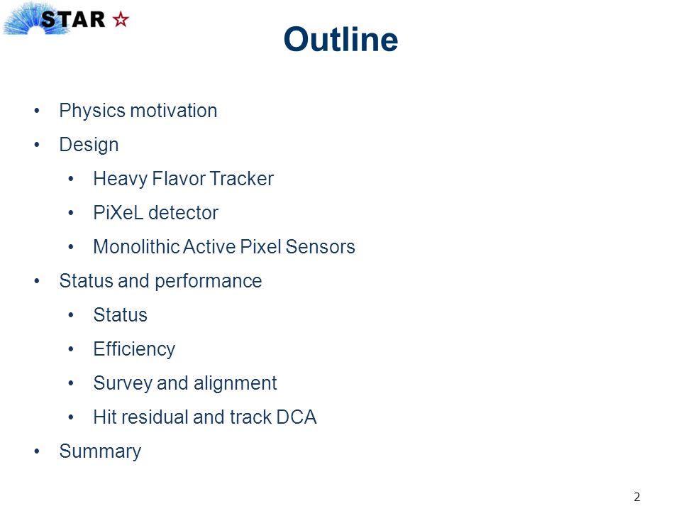 Outline Physics motivation Design Heavy Flavor Tracker PiXeL detector