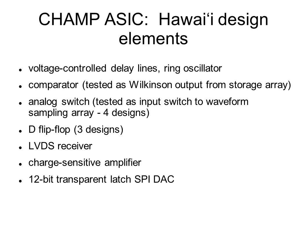 CHAMP ASIC: Hawai'i design elements