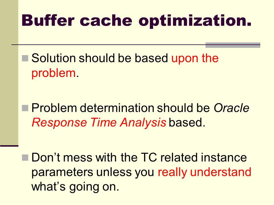 Buffer cache optimization.