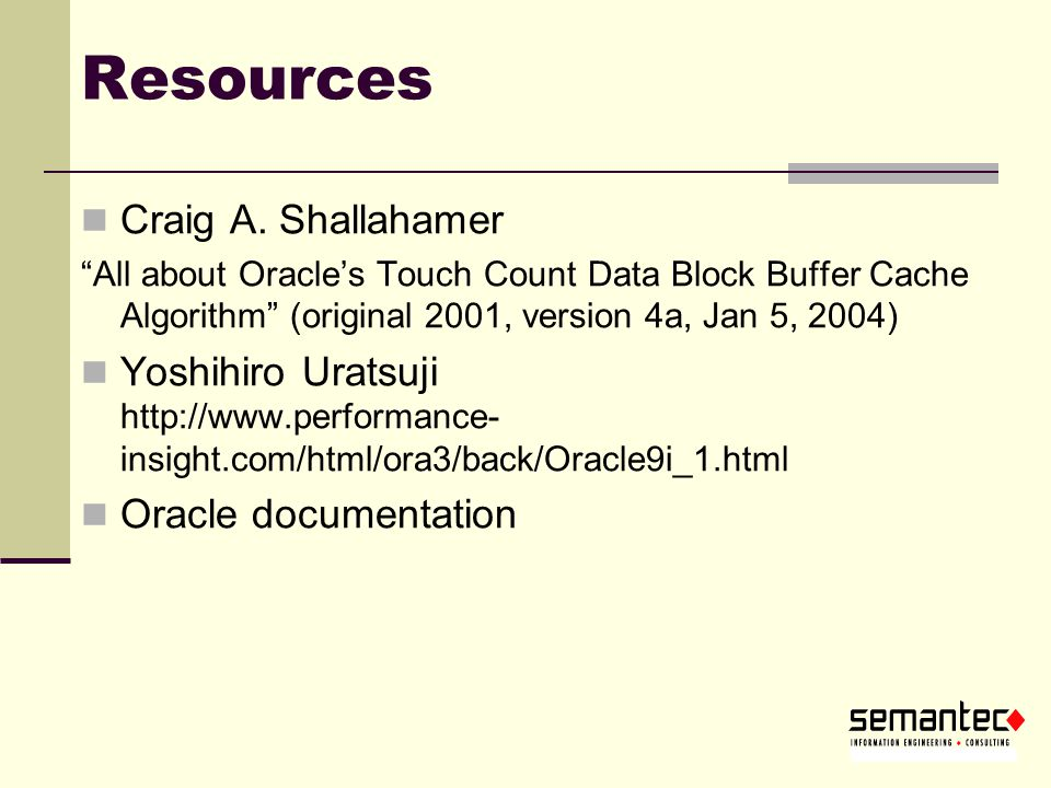 Resources Craig A. Shallahamer
