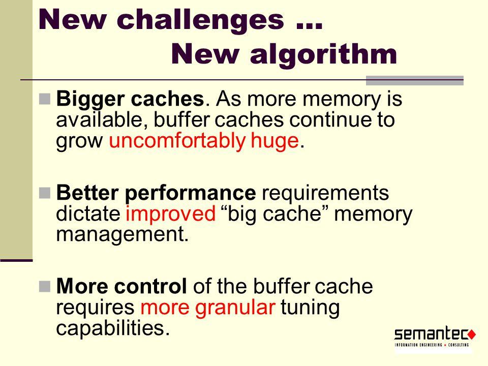 New challenges … New algorithm