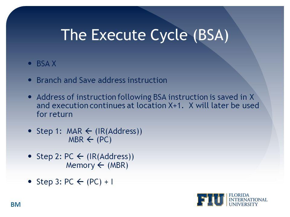 The Execute Cycle (BSA)