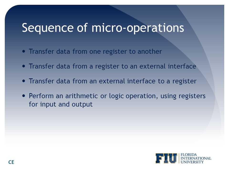 Sequence of micro-operations