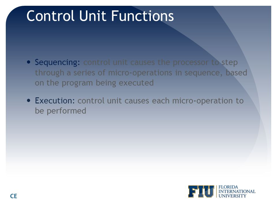 Control Unit Functions