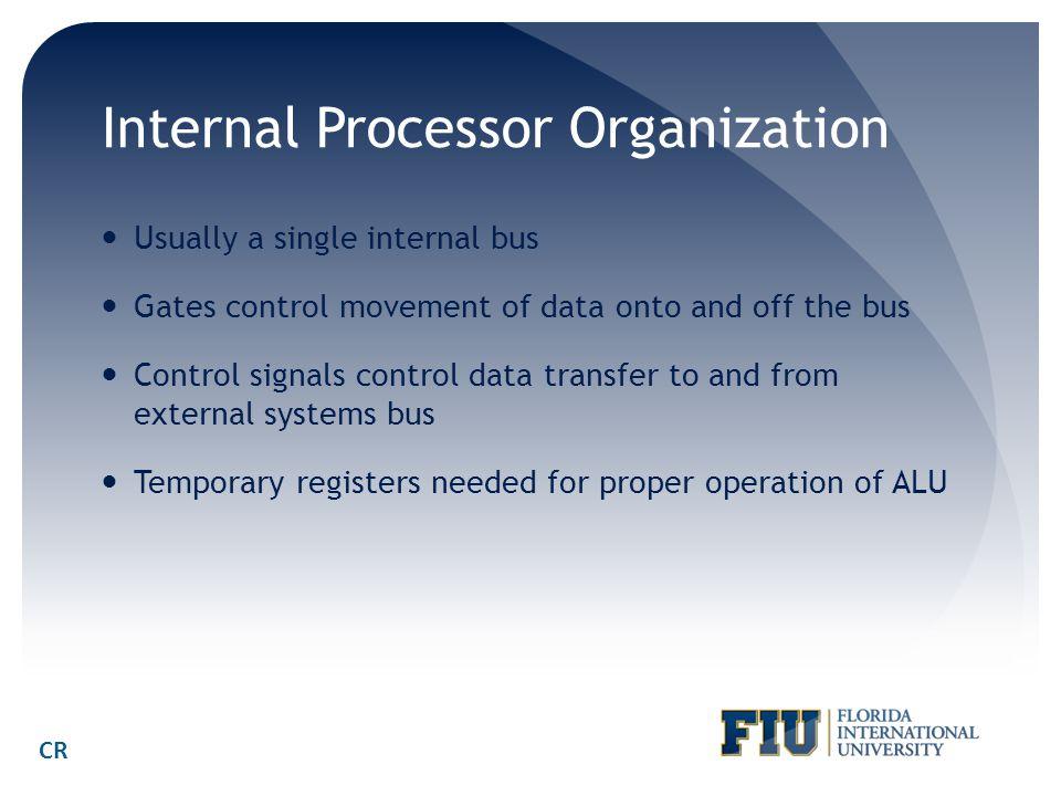 Internal Processor Organization