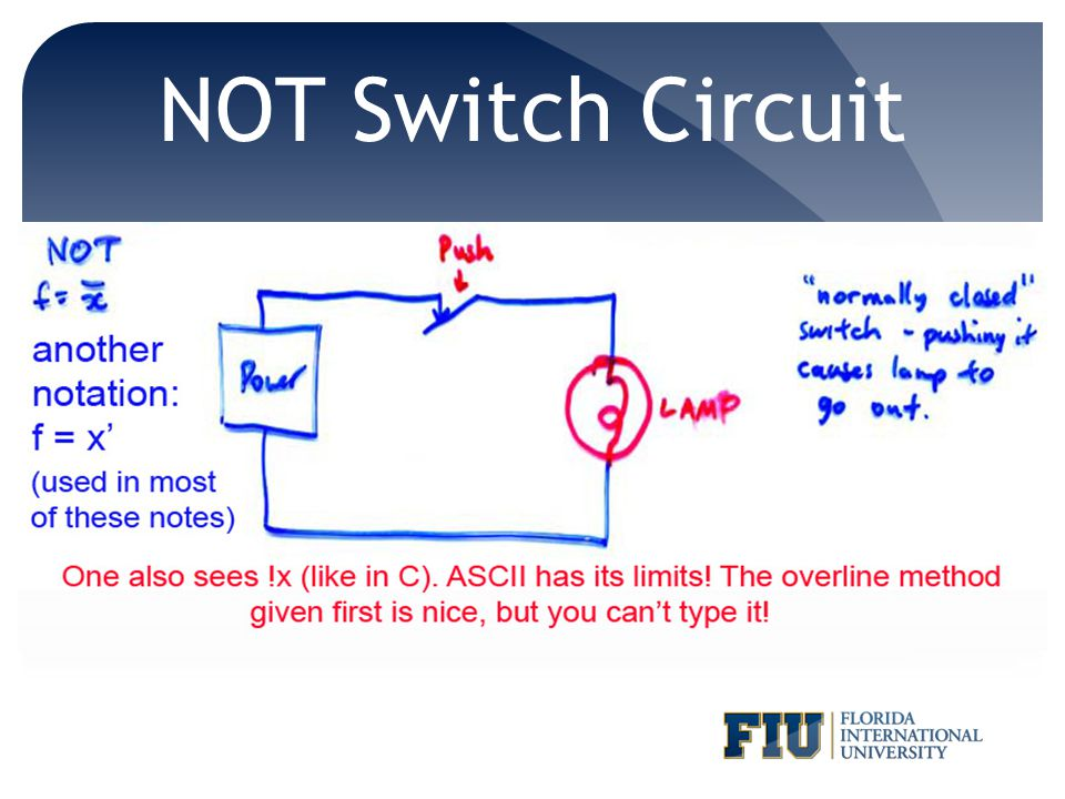 NOT Switch Circuit