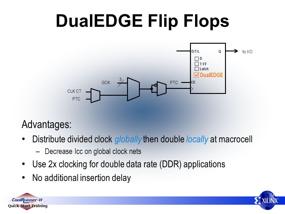 DualEDGE Flip Flops Advantages: