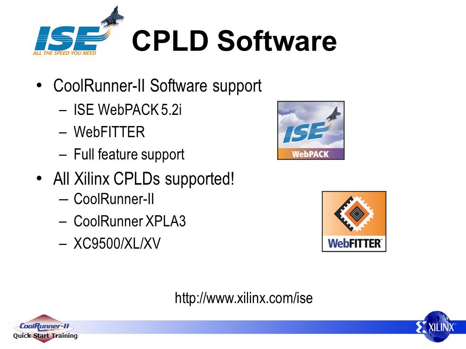 CPLD Software CoolRunner-II Software support