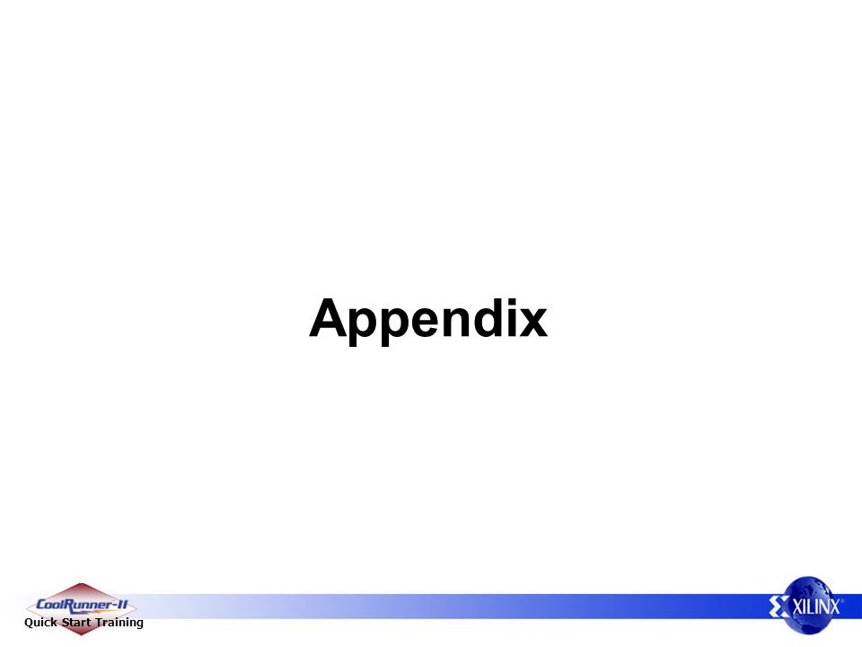 Appendix CoolRunner-II Technical Pitch