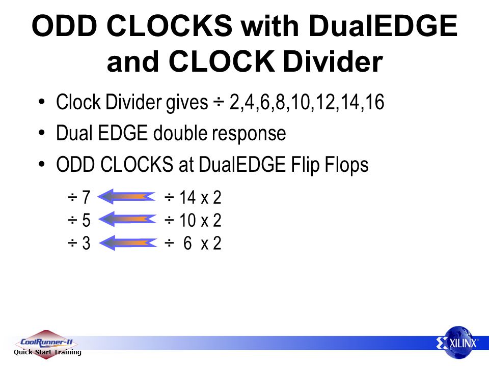 ODD CLOCKS with DualEDGE and CLOCK Divider