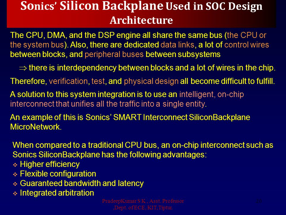 Sonics' Silicon Backplane Used in SOC Design Architecture