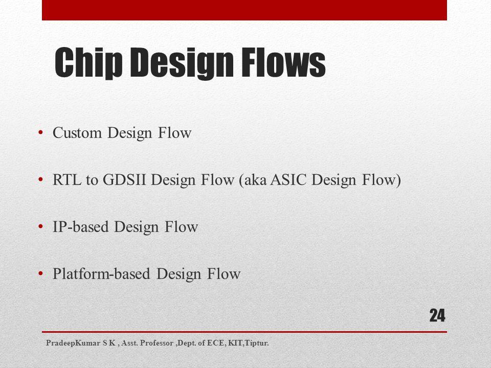 Chip Design Flows Custom Design Flow