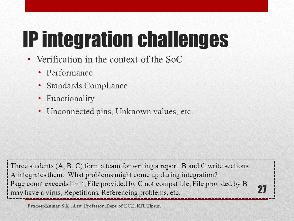 IP integration challenges