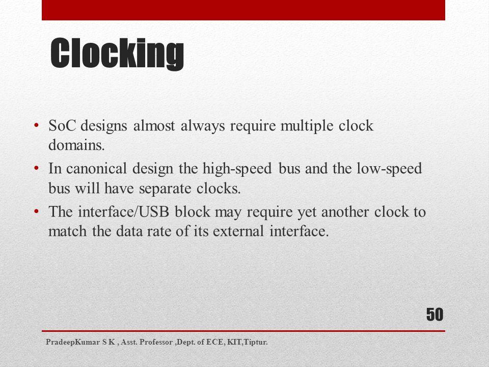 Clocking SoC designs almost always require multiple clock domains.
