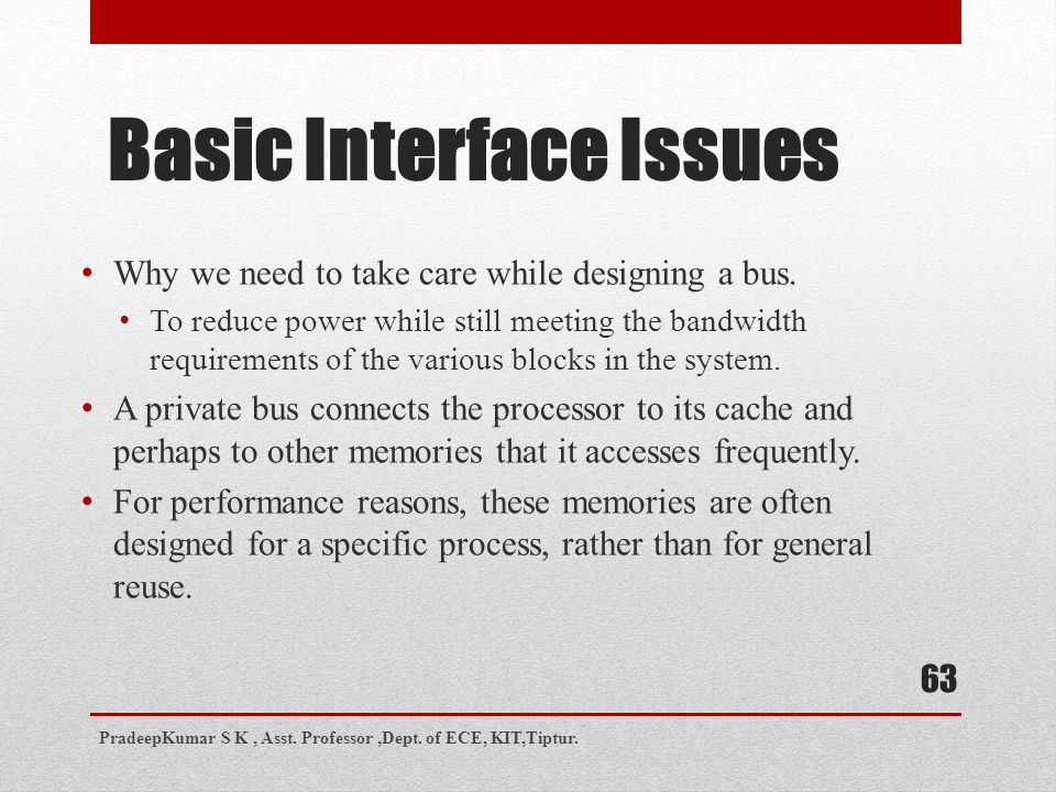 Basic Interface Issues