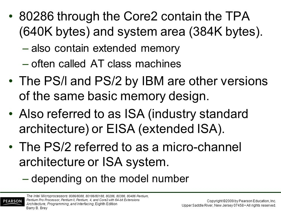 The PS/2 referred to as a micro-channel architecture or ISA system.