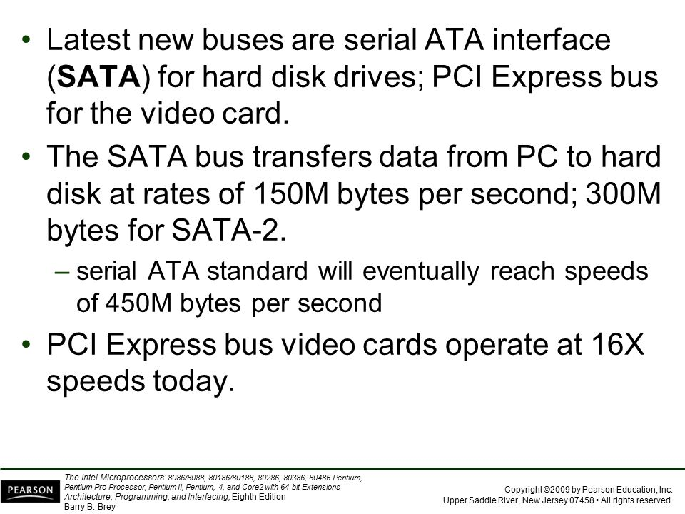 PCI Express bus video cards operate at 16X speeds today.