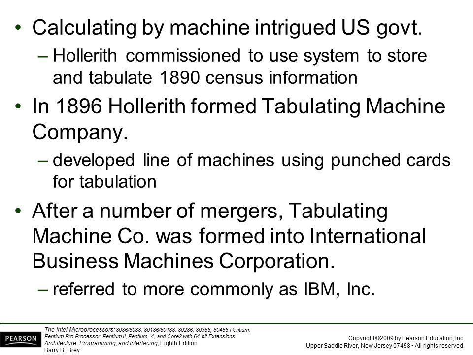 Calculating by machine intrigued US govt.