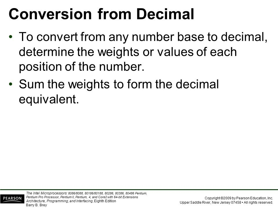 Conversion from Decimal