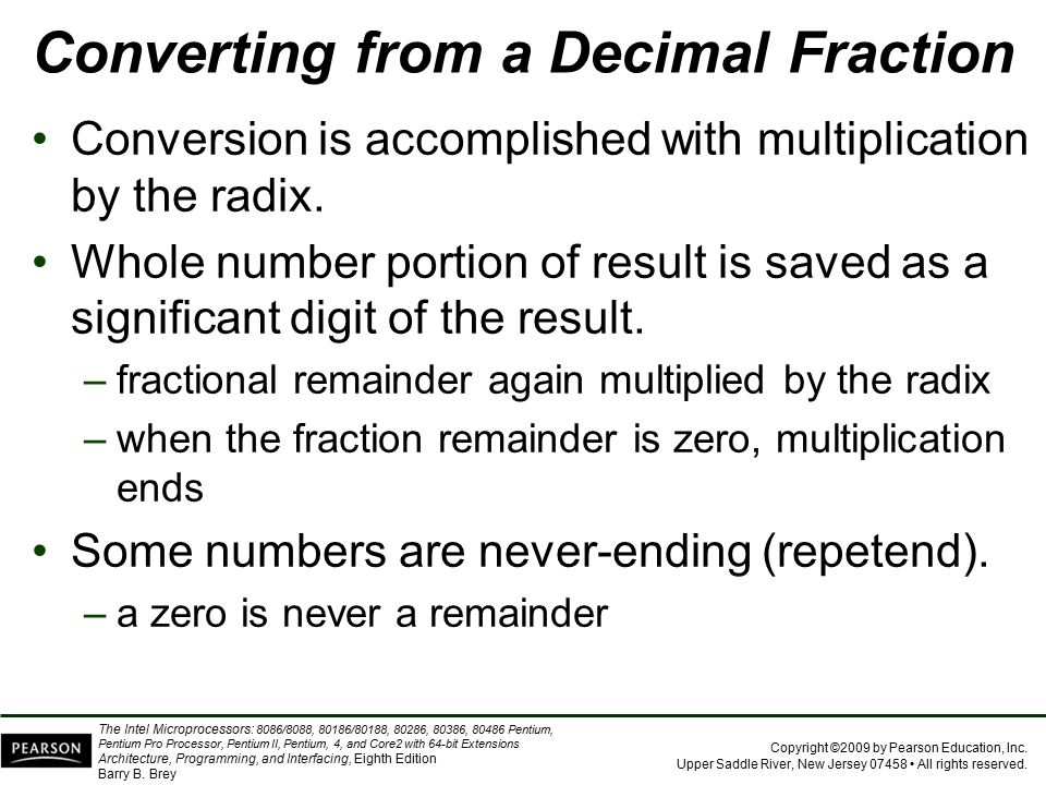 Converting from a Decimal Fraction