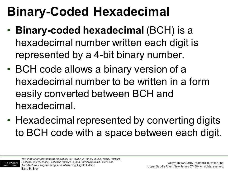 Binary-Coded Hexadecimal