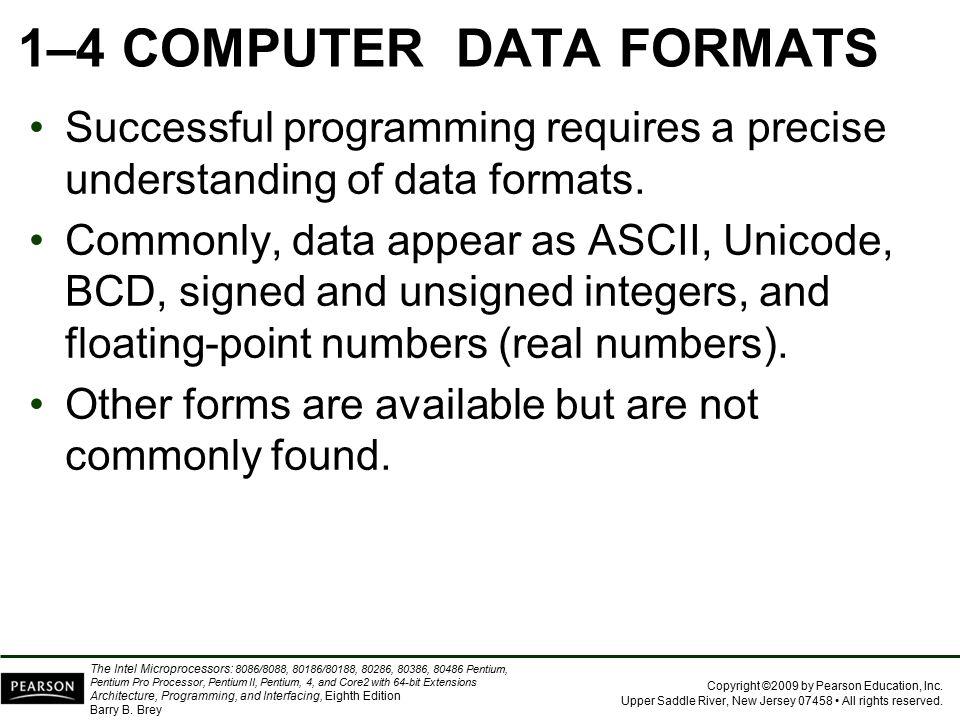 1–4 COMPUTER DATA FORMATS