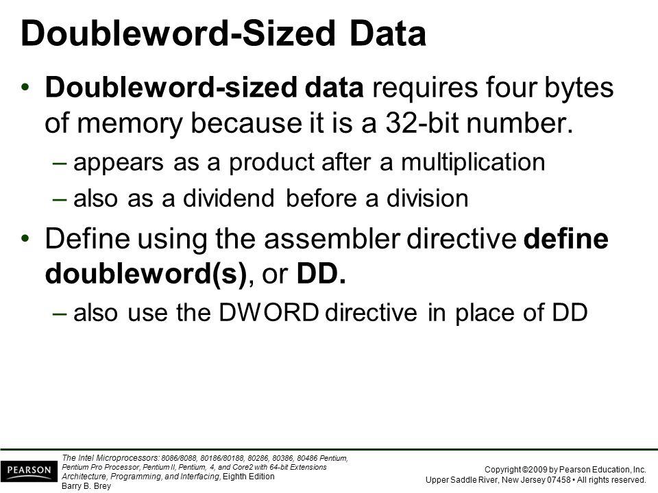 Doubleword-Sized Data