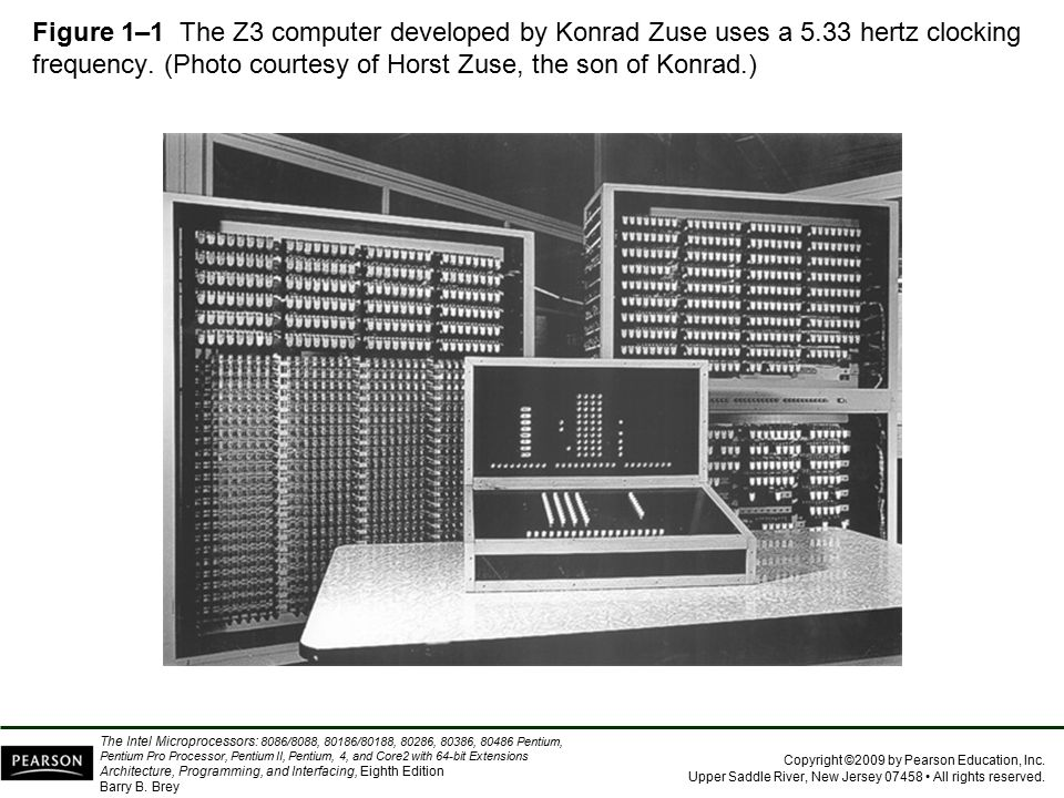Figure 1–1 The Z3 computer developed by Konrad Zuse uses a 5